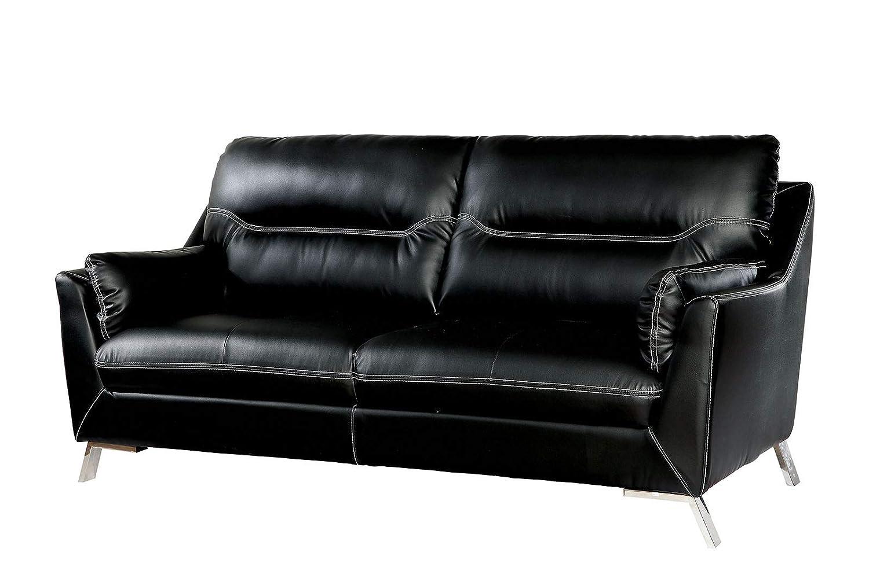 Amazon.com: Benzara BM183157 - Sofá tapizado en polipiel con ...