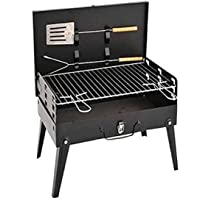 GosFrid Carbon Steel Charcoal Burn Oven Portable Folding Barbecue Grill Box for Outdoor 1Pcs