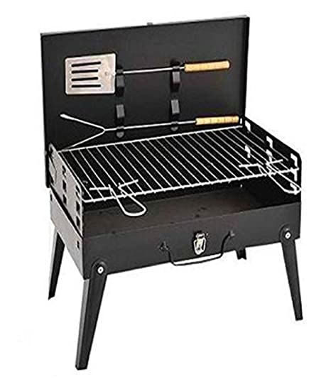 Sagrach Portable Briefcase Style Folding Barbecue Grill