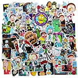 Rick and Morty Laptop Stickers Waterproof Skateboard Pad Macbook Car Snowboard Bicycle Luggage Decor (135PCS)