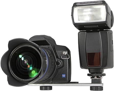Dslr Blitzschiene Blitzhalter Winkelschiene Seitliche Kamera