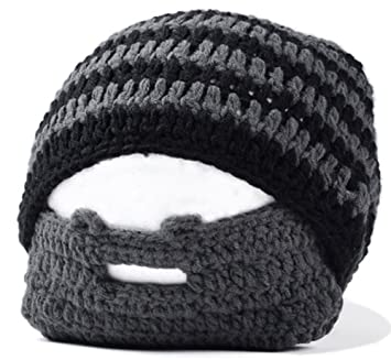 1373cfe7bbc Shot--In Men s Handmade Knitted Beard Hat Mustache Bicycle Mask Crochet Ski  Cap Winter