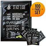 #7: 100 Pairs Set Premium Under Eye Gel Pads for Eyelash Extension - Lint Free Patches with Vitamin C and Aloe Vera by Stacy Lash supplies and Beauty tools - Hydrogel Eye Pads - Skin Moisturizes