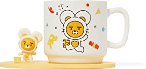 KAKAO FRIENDS - New Year Zodiac Mouse and Cheese Edition Home Office Indoor Ceramic Coffee Tea Mug Cup with Figurine (Ryan)