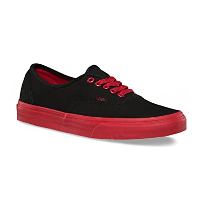 vans authentic red and black nz