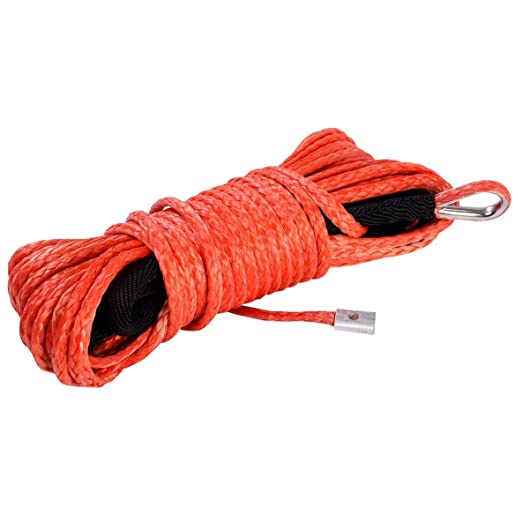 Amazon Com Replacement Dyneema Synthetic Winch Rope Cable Atv Suv