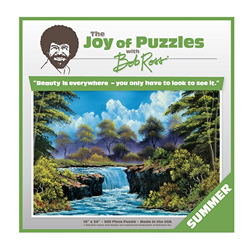 Wellspring Bob Ross The Joy Of Puzzles, Summer 500 Piece Jigsaw Puzzle 6816