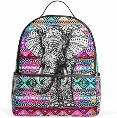1517e4e24e JSTEL Aztec Elephant School Backpack 4th 5th 6th Grade for Boys Teen Girls  Kids