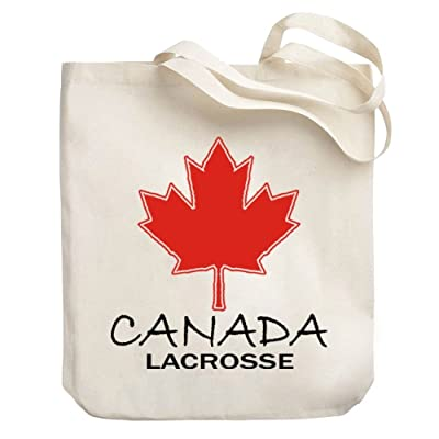 Teeburon CANADIAN MAPLE Lacrosse Canvas Tote Bag