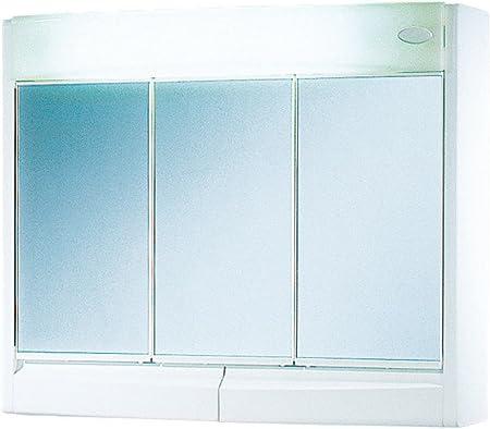Jokey Saphir Armoire A Glace Largeur 60 Cm Blanc Avec Eclairage Miroir De Salle De Bain Amazon Fr Cuisine Maison