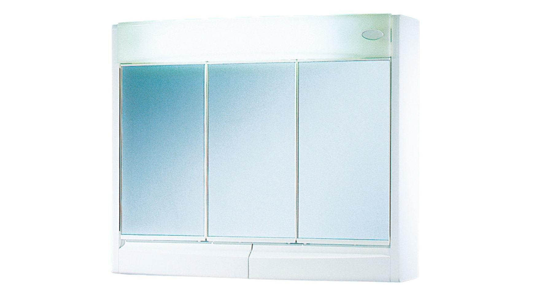Jokey Saphir armario con espejo - Ancho 60 cm - blanco – con la iluminación –