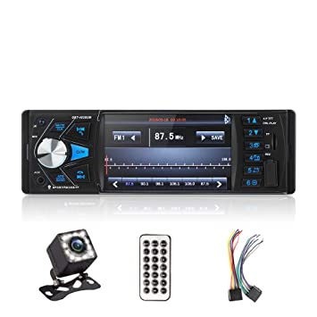 "4.1/"" HD Single 1DIN Car Stereo Video MP5 Player BT FM Radio AUX USB SD TF Camera"