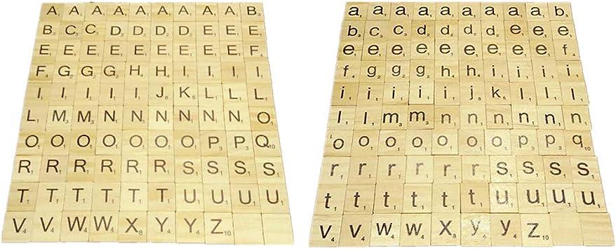 lailongp 200 Piezas Scrabble Crucifijo Juego Madera Aprendizaje Letras Palabras pedagógico Regalo Juguete: Amazon.es: Hogar