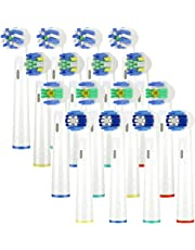Recambios Cepillo Compatible Braun Oral-b,cabezales de repuesto Compatible eléctrico Pro 700 Pro 5000 Pro 6500, incluidos 4 Precision Clean EB20,4 Floss Action EB25,4 Cross Action EB50,4 3D White EB18