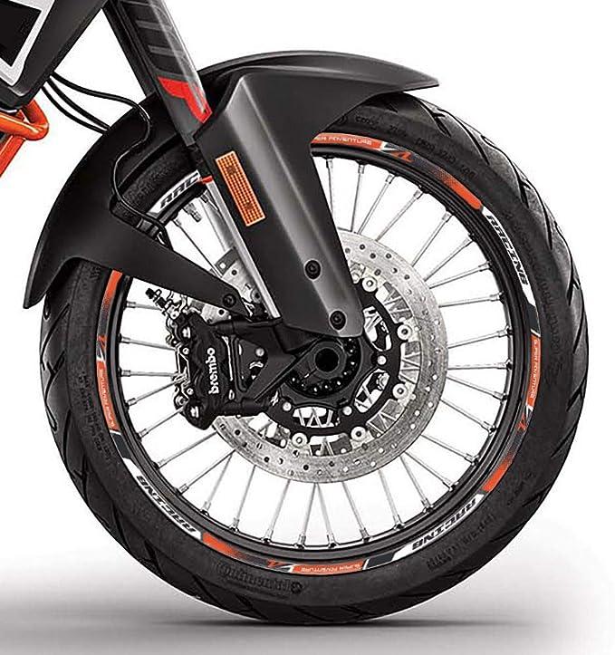 Tiras Adhesivo Compatible para Moto KTM 1090-1190-1290 Adventure Ruedas 17 19