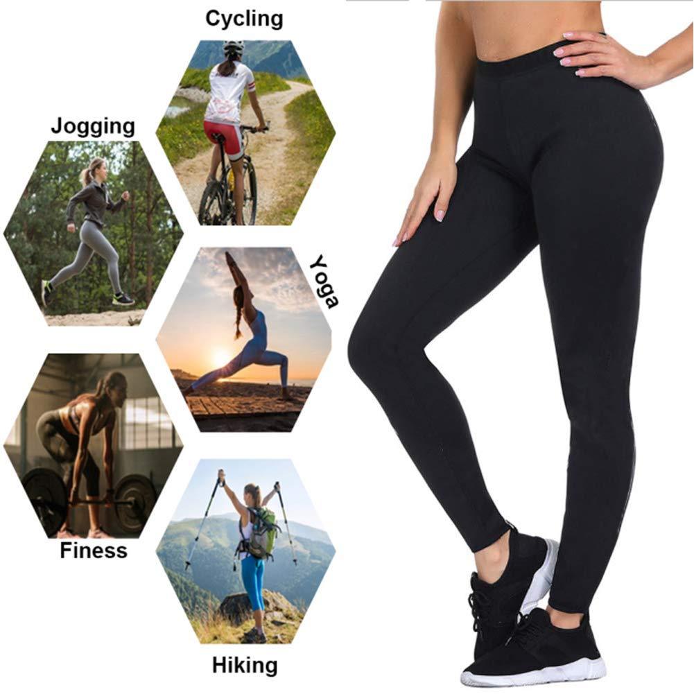 Contenitivo e Push Up NHEIMA Leggings Dimagrante Donna Fitness Effetto Snellente Palestra,Yoga,Running Leggings Anticellulite in Neoprene per Sudorazione Pantaloni Sportivi Vita Alta
