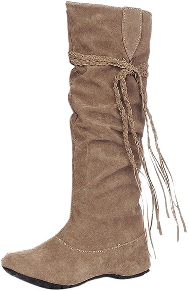 Xinantime Botas Altas Zapatos de Moto Mujer Equitación Muslo ...