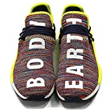 Fashion Human Race Sneaker Casual Breathable Lightweight Mesh Shoes Rainbow Multicolor Noble Ink Women US 6.5