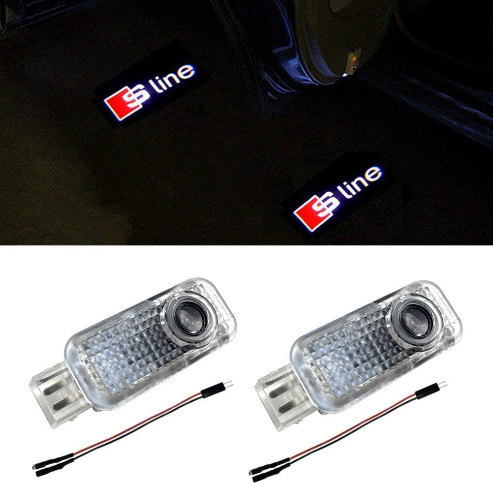 Klinee Easy Installation Car Door LED Logo Projector Ghost Shadow Lights for Audi Series