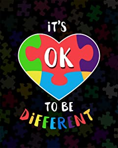 It's Ok To Be Different - Wall Decor Art Print with a dark background - 8x10 unframed artwork printed on photograph paper