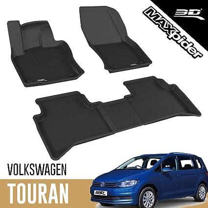 3d Maxpider Allwetter Fussmatten Für Volkswagen Vw Touran 5 Sitzer 2015 2020 Passgenaue Fußmatten Auto Gummi Matten Gummimatten Auto