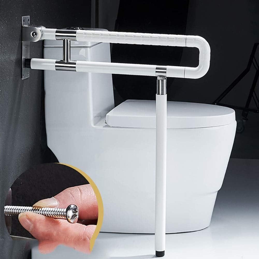 トイレ用アームレスト バストイレ安全Railsのハンディキャップフリップアップグラブバーシャワー安全浴槽トイレはバスタブサポートハンドルアシストバーのグラブは、バー トイレレールバスルームブラケット (Color : White, Size : 75cm)