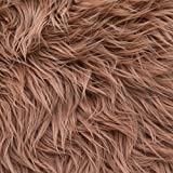 MoHair 60 Inch Faux Fur Light Brown Fabric by the Yard (F.E.®)