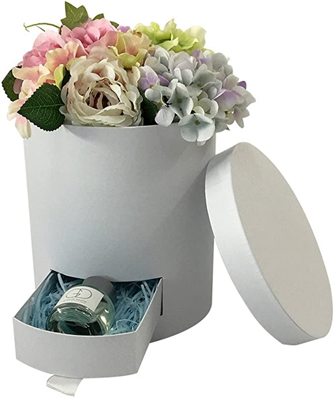 Amazon Com Jdcmyk Unique Design Florist Packing Flowers Gift Box Include Drawer Flower Box Chocolate Candy Box Wedding Party Decoration No Logo Print White Home Kitchen