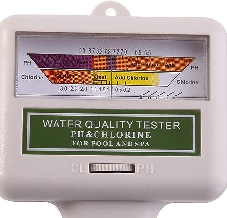 Jacksking Wasserqualitätsprüfgerät Tragbares Ph Prüfgerät Chlor Messgerät Spa Water Quality Monitor Checker Für Trinkwasser Im Haushalt Aquarium Schwimmbäder Hydrokultur Küche Haushalt