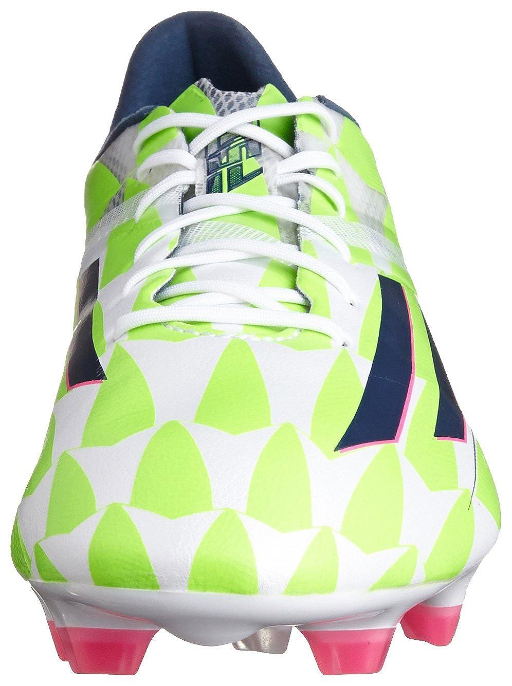 57404c14d F50 adizero TRX FG Football Boots Core White Rich Blue Solar Green - size  11  Amazon.co.uk  Shoes   Bags