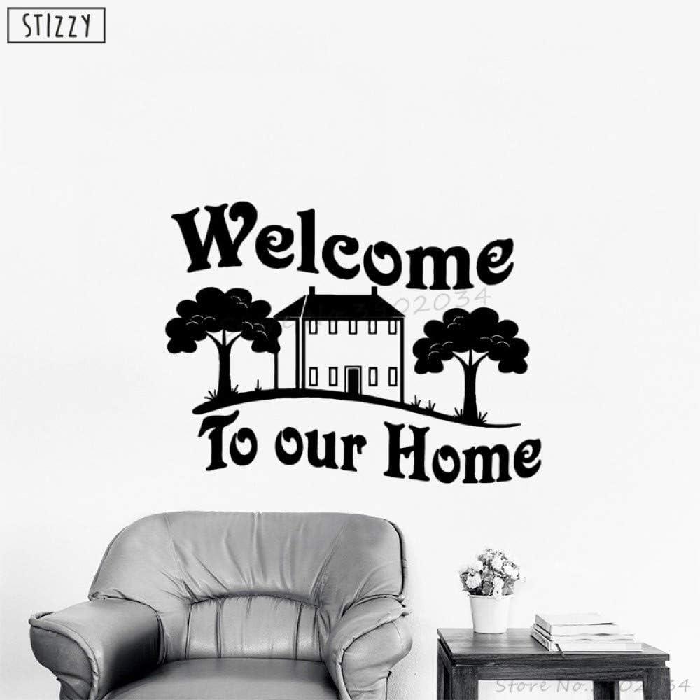 Etiqueta de la pared Cotizaciones de la familia Bienvenido a ...