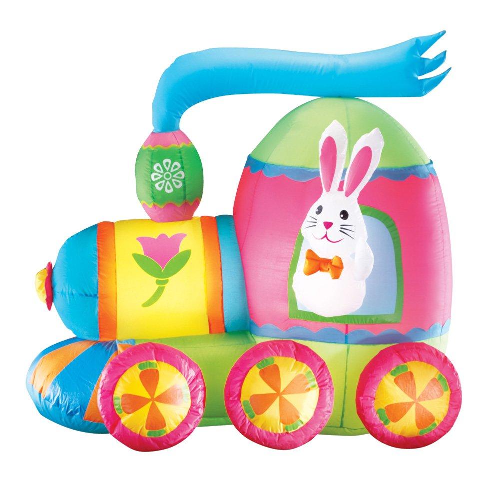 Hinchable de conejo de Pascua tren al aire libre Patio decoración ...