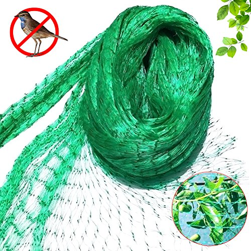 4m x 10m Anti Bird Netting Green Garden Plant Netting Protect Fruits Vegetable Pea Fruit Netting 1.5cm x1.5 cm Holes Flowers and sensitive Plants from Rodents Birds Deer