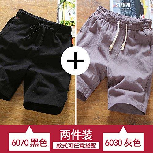 Dark gris L HAIYOUVK courtes Hommes's été Loose Pants Solid Couleur été Décontracté Pants Hommes's Thin Section Sports plage Pants Hommes's Pants
