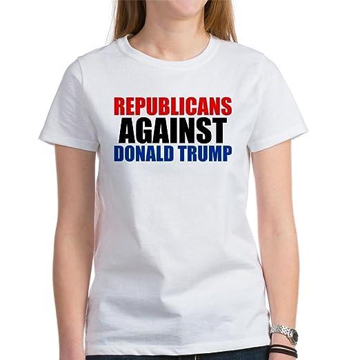 df7b1010b CafePress - Anti Trump Republican Women's T-Shirt - Womens Cotton T-Shirt,