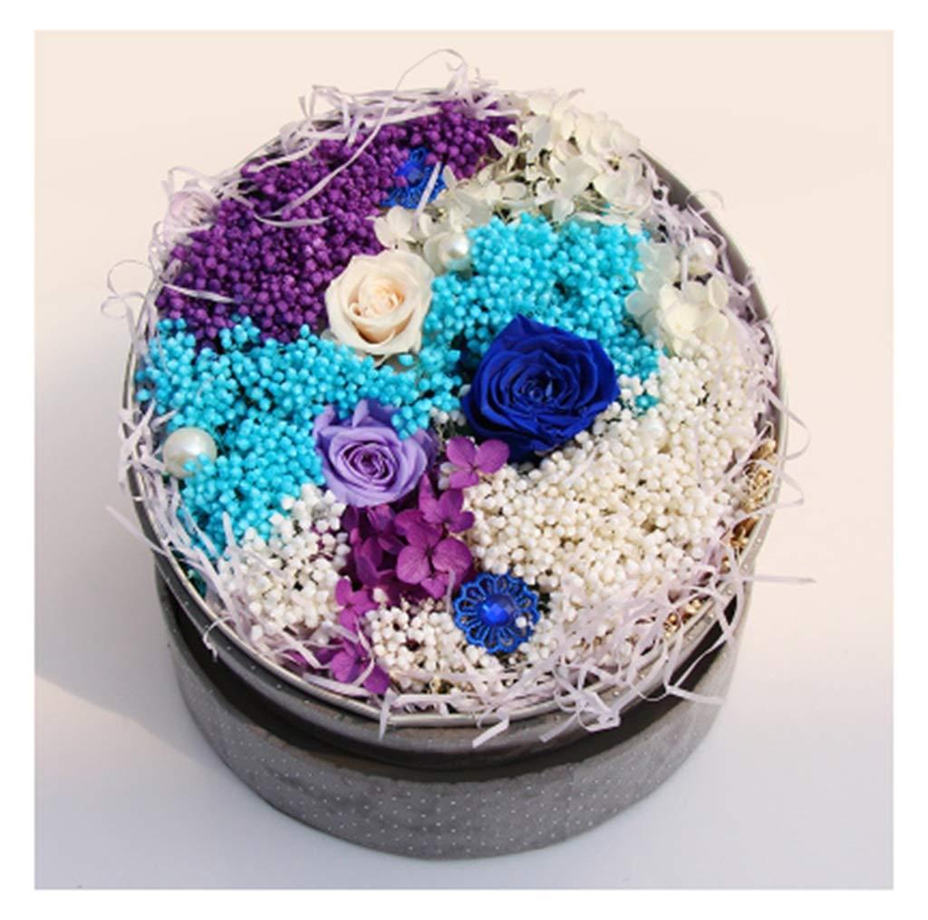 Old.Seller 永遠の花ギフトボックスローズバースデーギフトフラワー永遠の花 - 造花 3589 (Color : C) B07SW3XKCH C