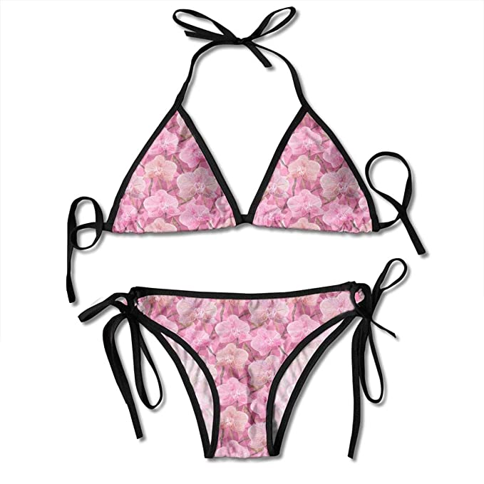 e538df9706 Image Unavailable. Image not available for. Color: Women's Swimsuit Two  Pieces Bikini Set, Blooming Garden of Summer ...