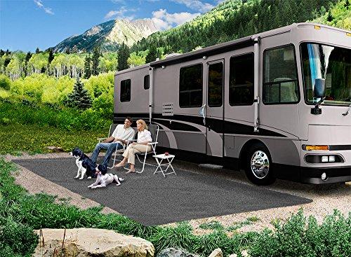 Prest-O-Fit 2-1173 RV Trailer Camper Outdoor Living Patio Rug 8'X20' Gray (Rug Prest O Patio Fit)