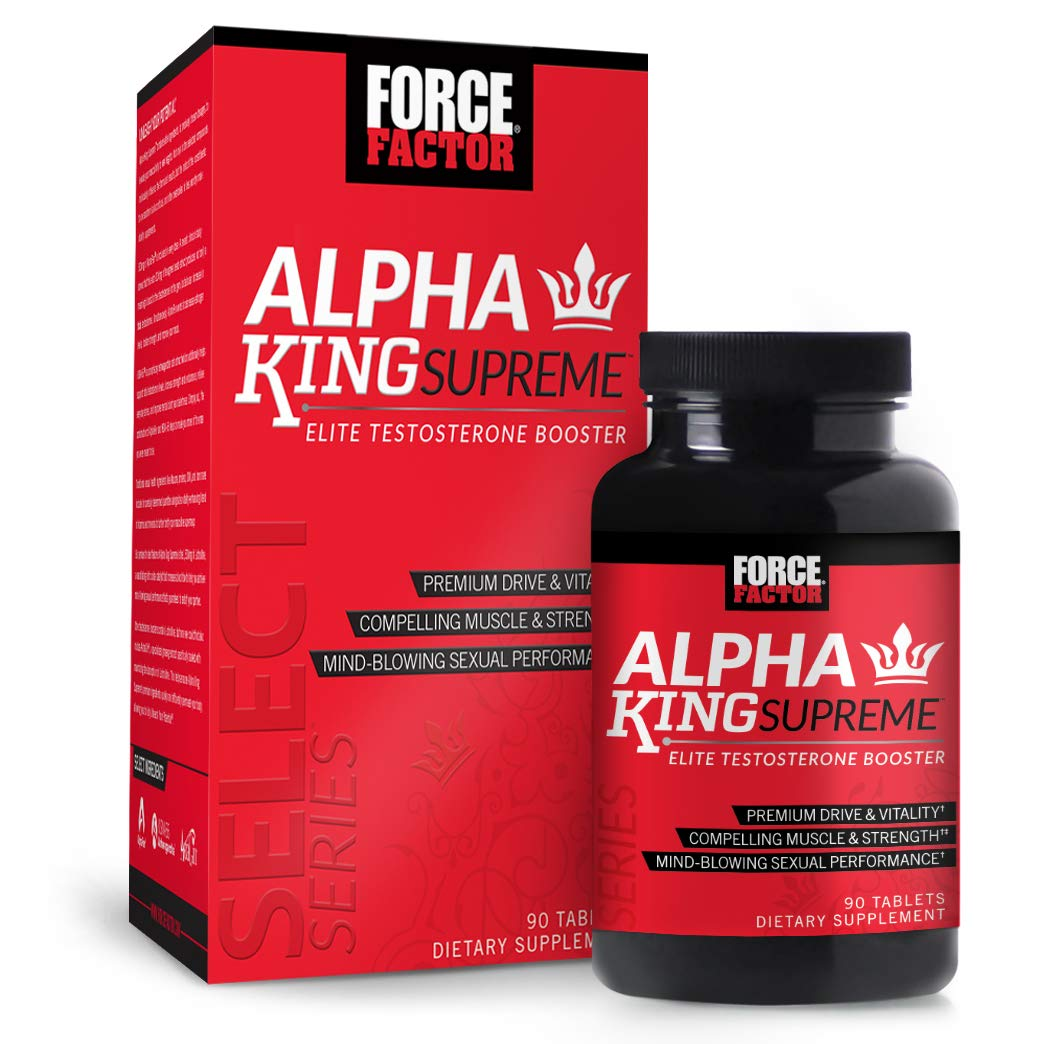 Alpha King Supreme Testosterone Booster w/AlphaFen to Increase Drive &  Vitality, Improve