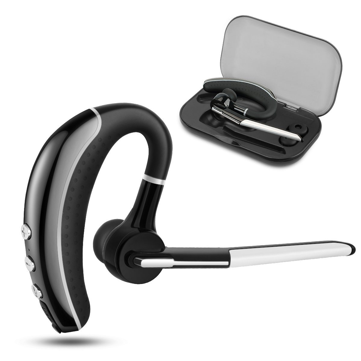 Bluetooth Headset, Wireless Earpiece V4.1 Ultralight HandsFree Business Earphone with Mic for Business/Office/Driving