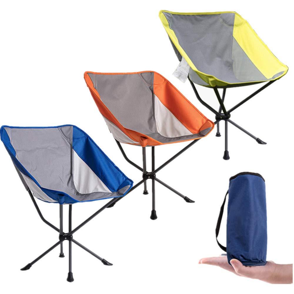 Tragbare Camping Stuhl Tragbarer leichter Klappstuhl-kampierender Stuhl mit tragen Tasche für das Wandern, fischend, hohe Kapazität des Strand-150KG Wanderer, Camp, Strand, im Freien ( Farbe : Blau )