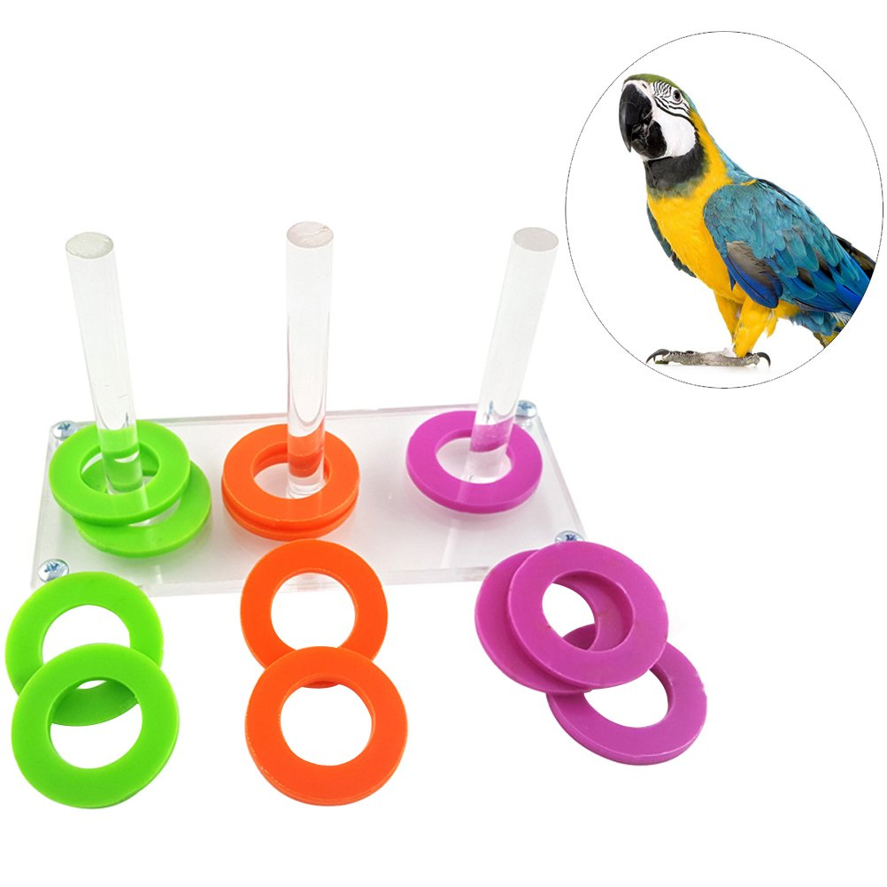 UEETEK Parrot Puzzle Toys Bird Ring Toy Training Développement de l'intelligence Puzzles interactifs Bird Educational Toys