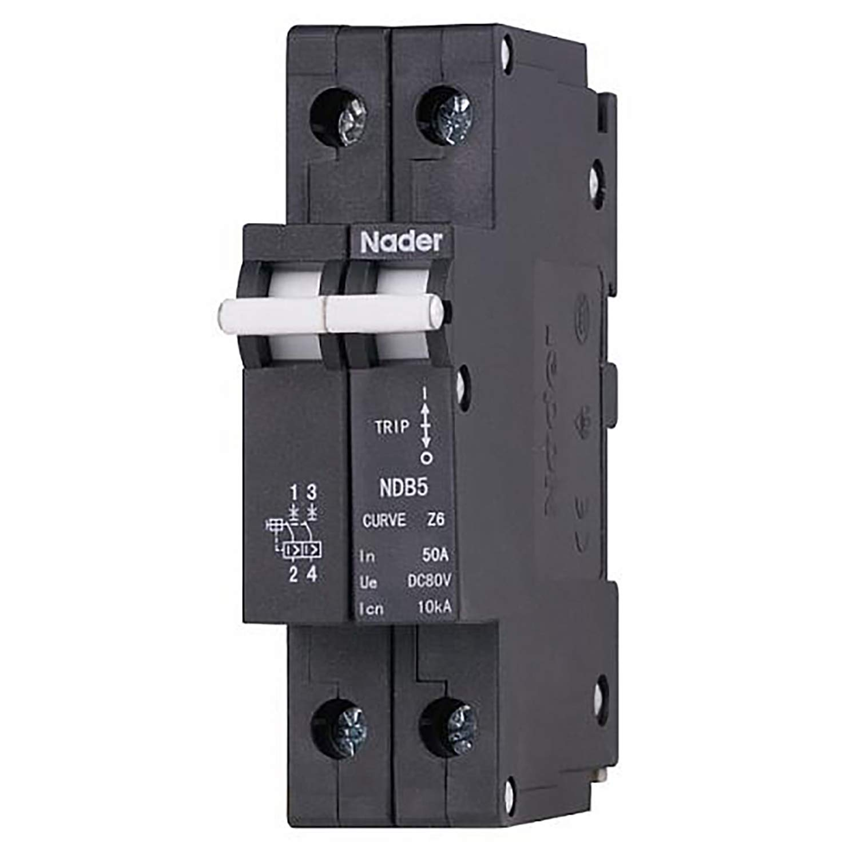 General Purpose Trip Curve C 2 Pole 240//480V UL489 Branch Circuit Protection ASI NDB2T-63C10-2L DIN Rail Mount Circuit Breaker 10 amp