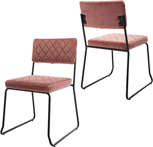 Wahson Velvet Modern Set of 2 Dining Chair