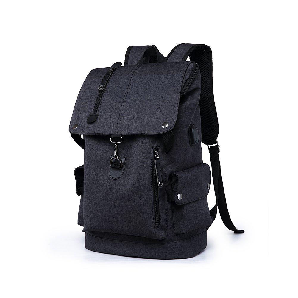 Business Laptop Backpack Slim Anti Theft Computer Bag Water resistent College School Backpack Eco friendly Travel Shoulder Bag USB Charging Port Fits UNDER 15.6 Inch Laptop Notebook Black