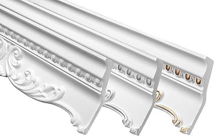 2 Metri Profilo Stucco Polistirolo Cornice Decorazione 58x135mm B-36