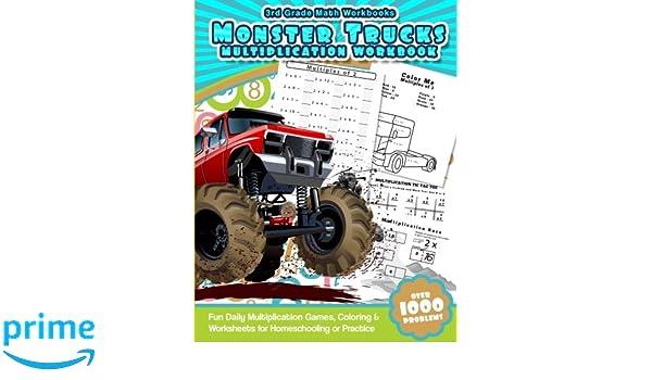3rd Grade Math Workbooks Monster Trucks Multiplication Workbook ...