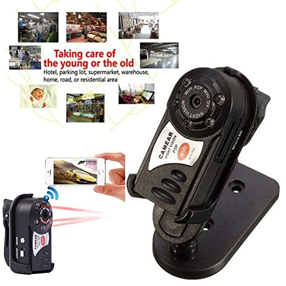 Amazon.com : Original q7 WiFi IP Mini Camera ir Night Vision p2p Wireless Micro cam Remote Control Video espia Candid for iPhone Android : Camera & Photo