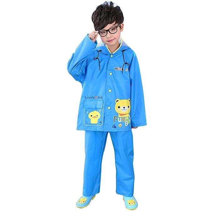 Amazon.com: Zhuhaitf Two Pieces Raincoat Suit Rainwear Kids ...