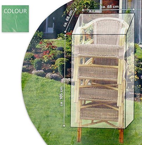 Cubierta Protectora FUNDA PROTECTORA LONA COBERTOR PARA SU Sillas de jardín 105 x 68 x 68cm de plástico en verde / Gris: Amazon.es: Jardín